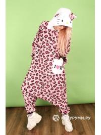 Кигуруми «Милая кошечка» розовый леопард