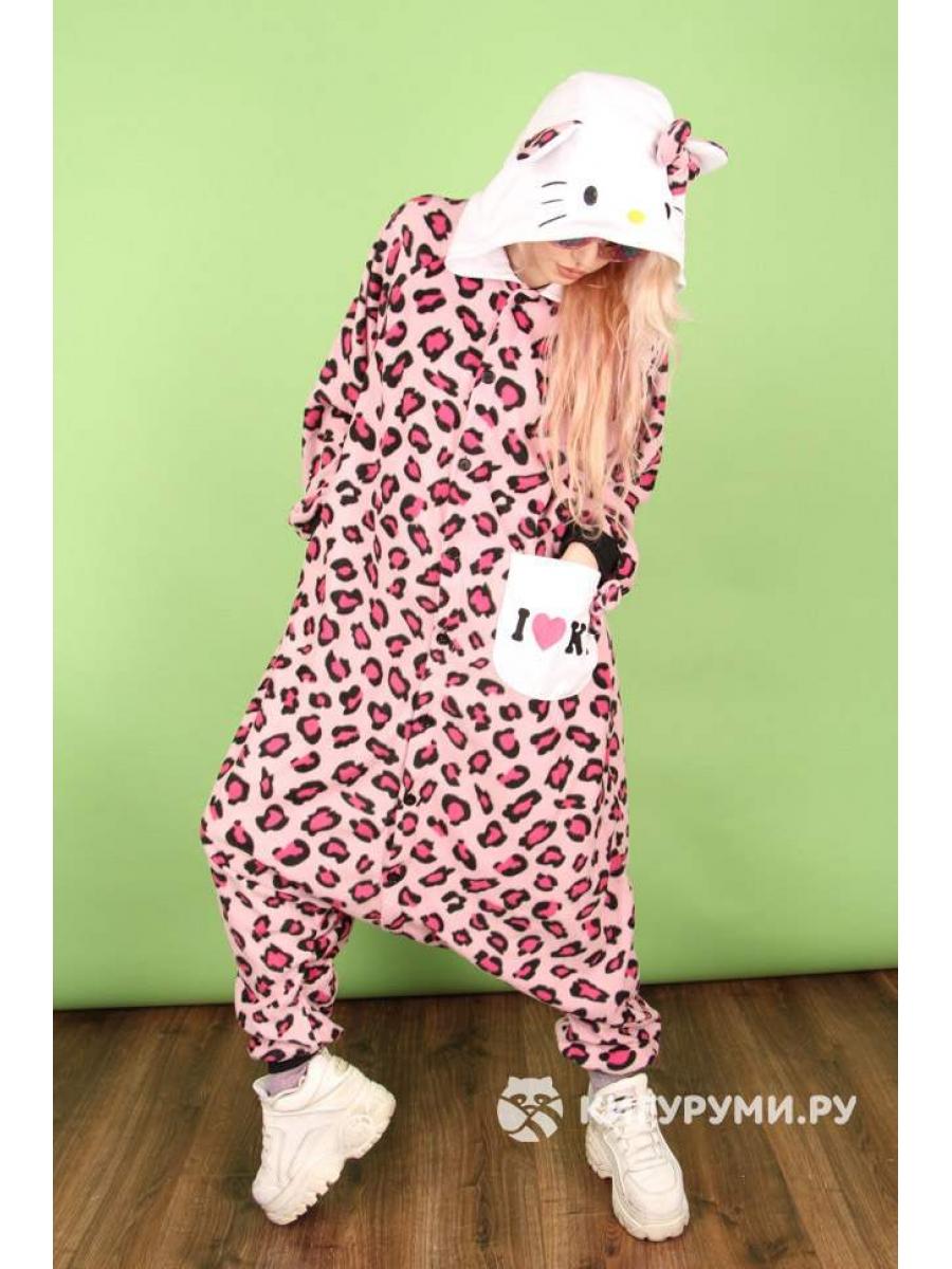 Кигуруми «Хэлло Китти розовый леопард»