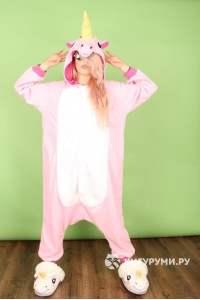 Кигуруми «Единорог розовый»