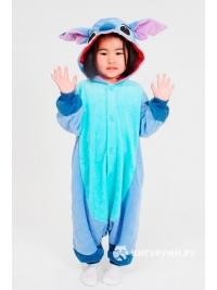 Кигуруми детский «Пришелец» голубой