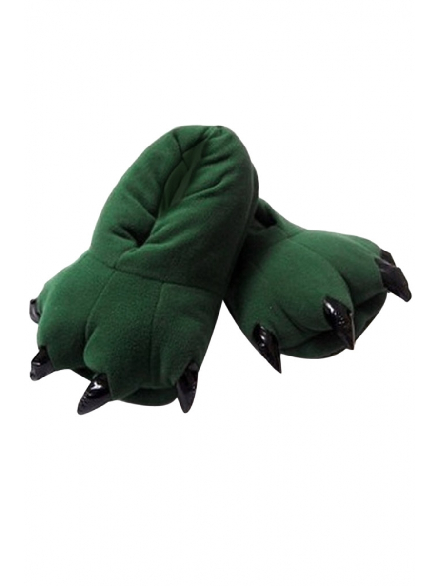 Тапки-лапки зелёные