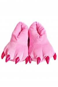 Тапки-лапки розовые