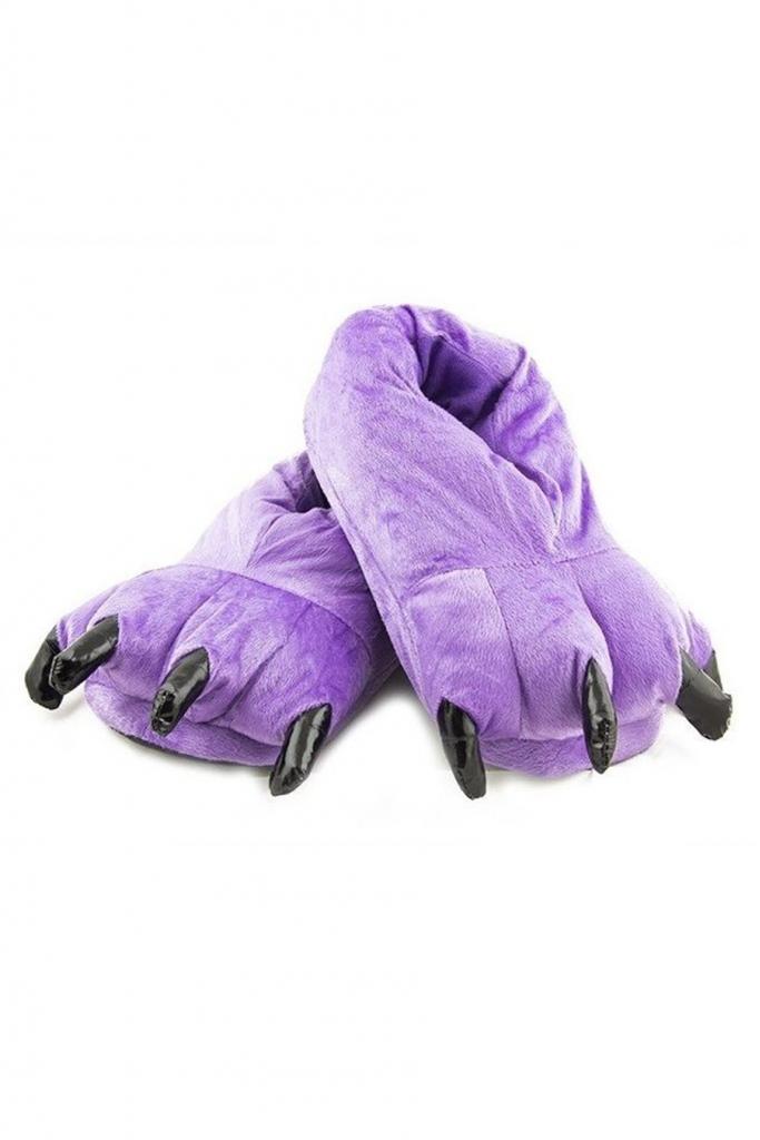 Тапки-лапки фиолетовые