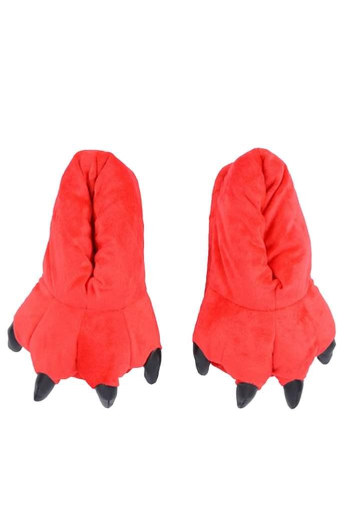 Тапки-лапки красные