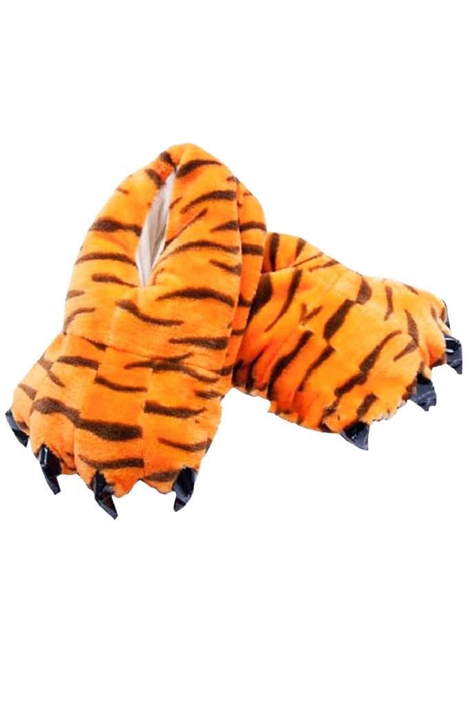 Тапки-лапки тигровые