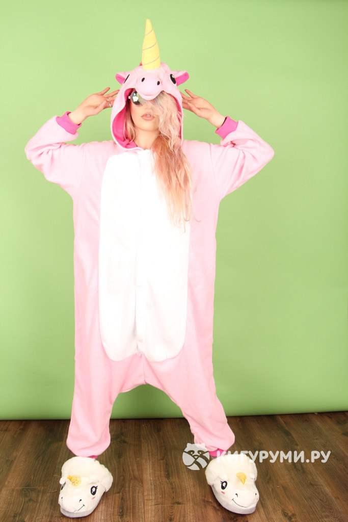 Кигуруми Единорог розовый в интернет магазине kigurumi.ru - пижама ... 9dcfc49b04ca1